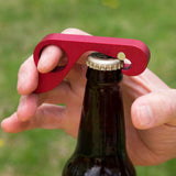 Red GrabOpener.  A fun bottle opener for the backyard