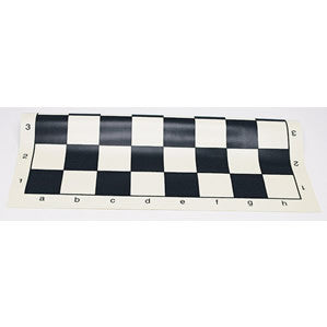 Tournament Roll Up Chess Board - Vinyl with Black Squares