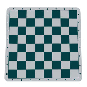 Green Silicone Tournament Chess Mat - 19.75 Inch Board with 2.25 Inch Squares