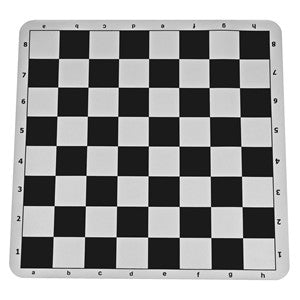Black silicone tournament chess mat - 19.75 inch board with 2.25 inch squares