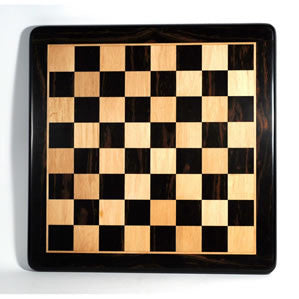 "2"" Ebony Chessboard with Rounded Corners 19 in."
