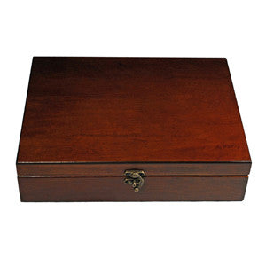 Old World Wooden Box with Brass Latch