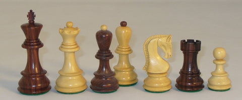 "3.75"" Fischer Design Rosewood Chess Pieces"
