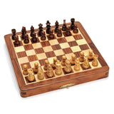 "7"" Rosewood Magnetic Folding Chess Set"