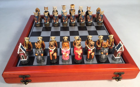 Cats Vs. Dogs Chess Set