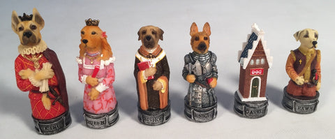 Cats Vs. Dogs Chess Pieces