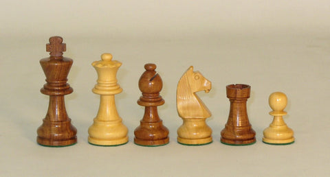 "3.25"" German Knight  Sheesham and Boxwood Chess Pieces"
