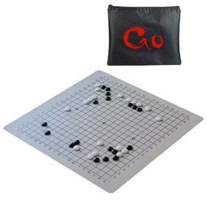 Travel Go Set with Full-Size 19.75 inch Silicone GO Board & 6.2mm Stones