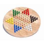 Chinese Checkers with Wooden Pegs