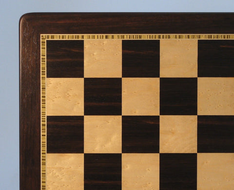 "2.25"" Ebony and Birdseye Maple Chessboard"