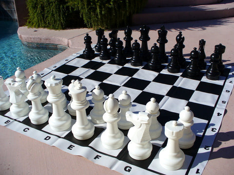 "Giant Outdoor Chess Set with 12"" King"
