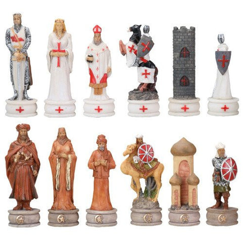CRUSADERS Vs. MOORS CHESS SET