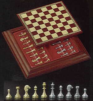 Magnetic, Brass Chess Set