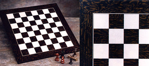 "2.25"" Ebony & Maple Chessboard"