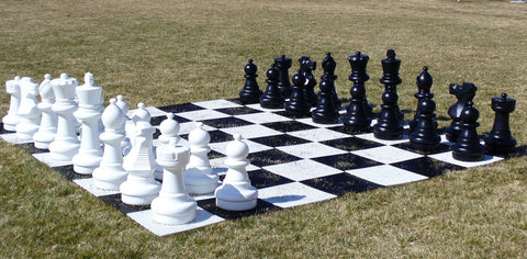 "Giant Outdoor Chess Set with 25"" King"