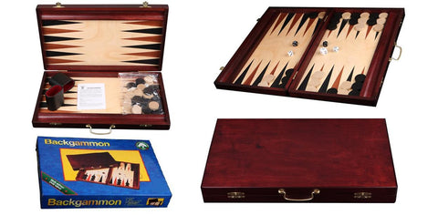"15"" Wood Backgammon Set"