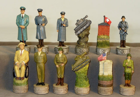World War II US Army vs Germany Chess Set