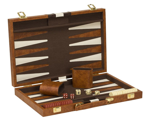 "15"" Vinyl Backgammon Set"
