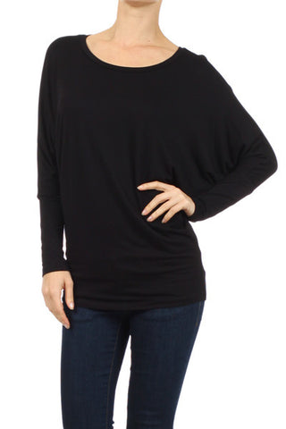 """Winter Class"" Collection Top - Black Dolman"