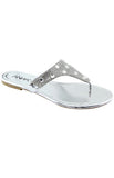 """Mint to Be"" Collection - Silver Gem Sandals"