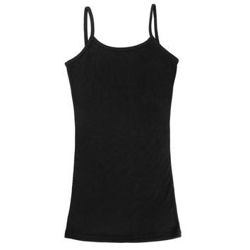 """Saturday Style"" Collection - Long Length Black Cami"