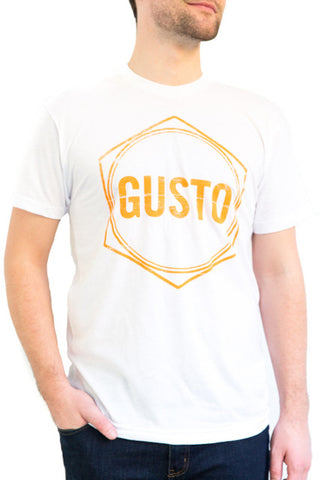Men's White Gusto T-Shirt