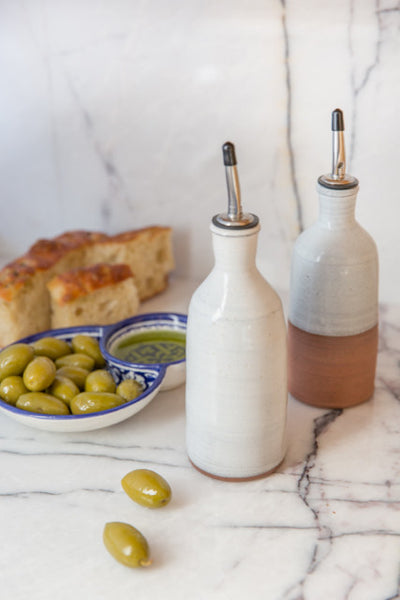 Full-Glazed Ceramic Olive Oil Cruet