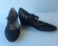 Anyi Lu Black Wedges
