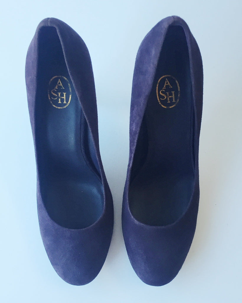 Ash Purple Suede Pumps