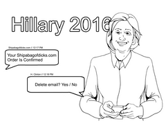 eat a bag of dicks coloring book hillary clinton