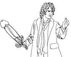 eat a bag of dicks coloring book dildo baggins