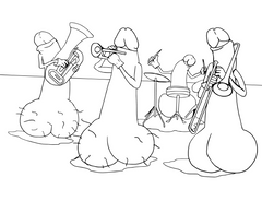 eat a bag of dicks coloring book jazz band