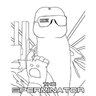 eat a bag of dicks cartoon book sperminator