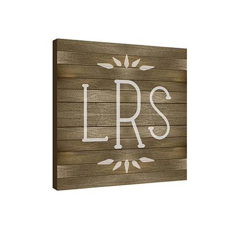 Ash Modern 11.5 x 11.5 Monogram Personalized Wall Plaque