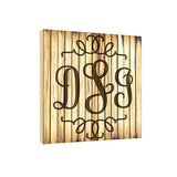 Blonde Classic Embellished  17 x 17 Monogram Personalized Wall Plaque