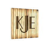 Blonde Retro 17 in x 17 in Monogram Personalized Wall Plaque