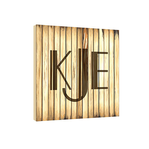 Blonde Retro 11.5 x 11.5 Monogram Personalized Wall Plaque