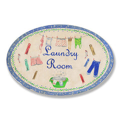 Blue Laundry Room Oval