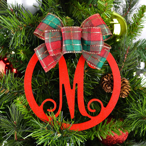 Monogram Christmas Tree Ornament
