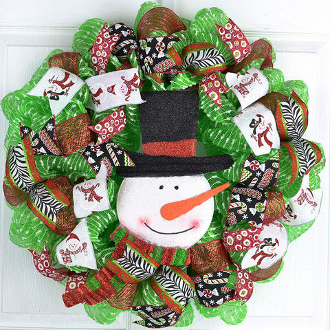 Snowman Holiday Home Decor Christmas Wreath