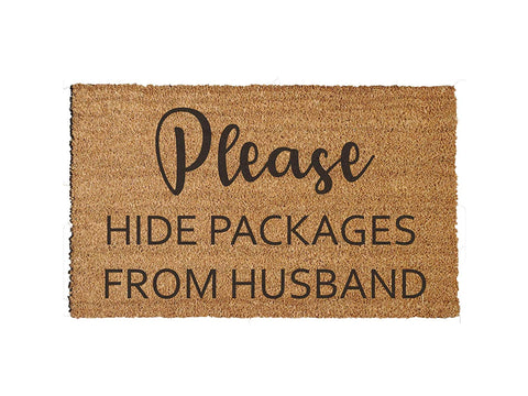 Hide Packages from Husband Doormat