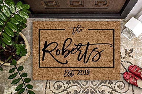 Personalized and Handmade Doormat