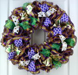 mardi gras fat tuesday wreath