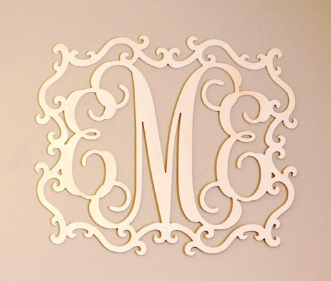 Over bed decor baby shower gift bedroom monogram - Over the bed wall art ...