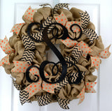 Everyday Burlap Monogram Wreath | LOTS of color options!