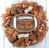 It's Fall Play Ball Wreath