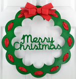 Christmas Door Hanger | Christmas Wreath | Thin Christmas Door Decor | Christmas Decoration