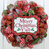 Merry Christmas Y'all Wreath