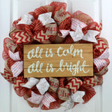 All is Calm, All is Bright Christmas Wreath