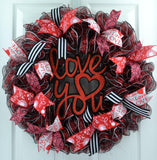 Love You Valentine's Day Wreath